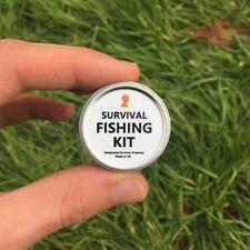 Mini Survival Fishing Kit - Bushcraft, Camping, Hunting, Prepping