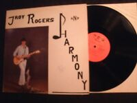 Troy Rogers and Harmony - S/T -Private Vinyl 12'' Lp/ VG+/ Bluegrass Country Pop