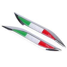 Side Car Fender Skirt Badge Emblem Sticker Decor Decal Italy Italia Italian Flag