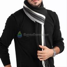 Mens Tassels Cashmere Shawl Winter Warm Long Fringe Striped Tassel Scarf Gifts