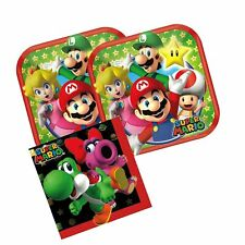 Cedar Crate Market Super Mario Party Supplies Pack for 16 Guests Includes: 16...