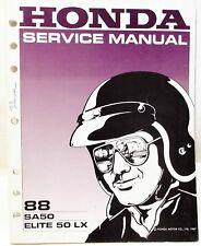 Genuine Honda Factory 1988 '88 SA50 Elite 50 LX scooter Service SHOP MANUAL