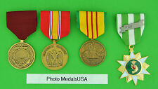 NAVY 4 VIETNAM MEDALS - National Defense,  Service, Campaign, Good Conduct   USN