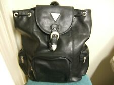 GUESS BACK PACK LARGE BLACK  FAUX LEATHER - GUC