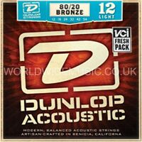 Jim DUNLOP 80/20 Bronze Acoustic Guitar Strings - Choice of 3 Gauges