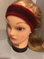 New Free People Burgundy Knit Earband Turban Headwrap Headband Sweatband Red