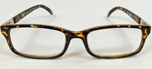 Foster Grant Reading Glasses Mens Tortoise Frame Boston Readers +1.75 to +3.25