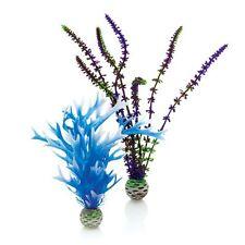 Biorb medio fácil planta Pack De 2 púrpura Blue Reef un pez de acuario plástico
