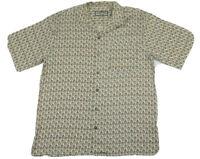 Vintage Silk Pusser's Island Style Button Down Hawaiian Sport Shirt Mens Medium