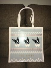 "Ted Baker Shopper ""Dolcon"" Cotton Dog Fairisle Large Icon Ash Bag French Bulldog"