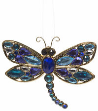 Crystal Expressions Gold Tone Dragonfly Ornament w/ Acrylic Crystals