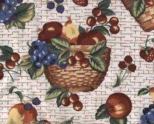 Longaberger Oval Serving Tray Fruit and Baskets Liner