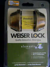 "Weiser  Bronze Double  Cyl. Deadbolt-used 2 3/4"" backset"