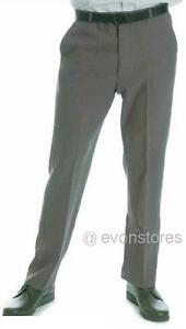 Mens Formal Flat Front Trouser  Ideal for Lawn Bowls Bowling Grey