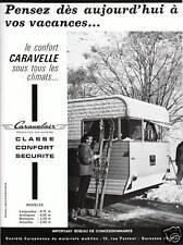 Publicité ancienne caravane Caravelair 1963 issue de magazine