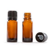50 X 10ml Empty Brown Glass Dropper Bottles With White CAP & Dropper