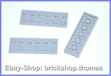Lego 3 x Plate (2 x 6) Grey - 3795 - Plate Light Bluish Grey - New / New