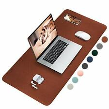 Leather Desk Pad Desk Protector With Sewing Edge Desk Mat For Writing Non Slip