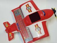 Educational Airplane Learn English,Counting Arabic in Exciting Way for Kids-Red