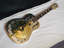 DEAN Resonator Chrome Gold Round-Neck acoustic electric slide GUITAR - B-stock