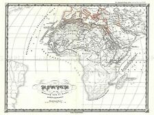 1855 SPRUNER MAP AFRICA TO ARAB CONQUESTS IN 7TH CENTURY POSTER PRINT 2923PYLV