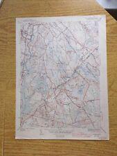 "1942 U.S. Geological Survey Map MA Taunton Freetown Assonet 20""X15"""