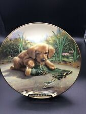 """River shore collection """"Catch of TheDay� 8.25� Signed Plate no. 0869A"""