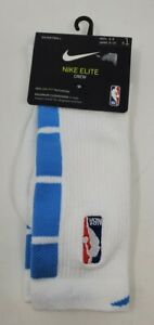 NBA Nike Elite Crew Basketball Socks M 6-8 CK8827-100