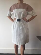Marni White Summer Designer Robe taille 42 italien, taille moyenne Cost £ 590 NOUVEAU!