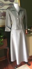 Von Maur JS Collections Gray Skirt Suit Maxi Skirt Fitted Jacket 10/12Pet NWTs