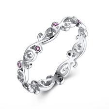 Vintage Engagement Band 18K White Gold Flush Setting Genuine Ruby Jewelry Ring