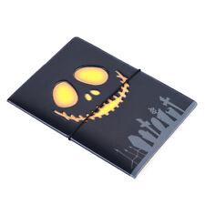3D Skull Stereo Passport Holder Cover ID Card Holder Unisex Travel Bag S
