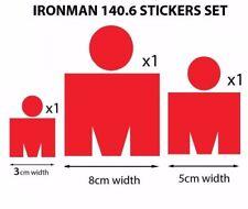 M-Dot Ironman 140.6 vinyl stickers set 3pcs Red