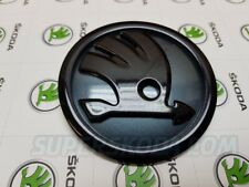 Custom Skoda Yeti Facelift Front Badge Black & Quartz Grey. SuperSkoda Part
