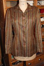 SUI ANNA SUI Blazer Jacket Coat lunga 1990 Taglia 10-12