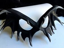 Black Leather Vampire Mask - Halloween Mask Vampire CosPlay Masquerade Matte