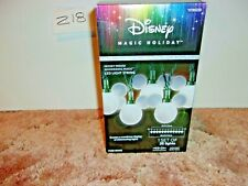 Disney Magic Holiday 25 Shimmering LED Mickey String Lights~White~New In Box