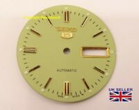 Replacement Dial For Seiko 5 6309 Models Light Olive Tone 28.5mm
