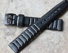 LAST ONE Stealth Buckle NOS Swiss Tropic 18mm rubber 1960s dive diver watch band