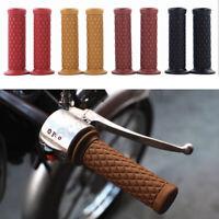 """7/8"""" 22mm en caoutchouc Vintage guidon poignée Bobber Cafe Racer Sport vélo moto"""