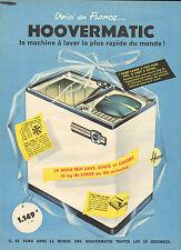 Publicité 1960  HOOVERMATIC lave linge machine à laver