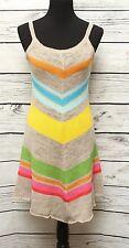 Jc de Castelbajac Knit Dress Summer Spaghetti Straps Multi Color Asymmetrical