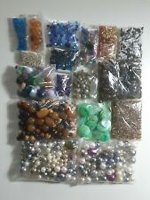 Beads Job Lot Mix Of Wooden Glass Acrylic Plastic Pearl and Seed Beads 430g
