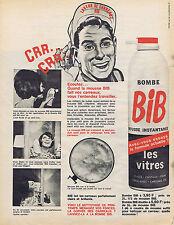 PUBLICITE ADVERTISING 094 1957 BIB mousse instantané pour les vitres