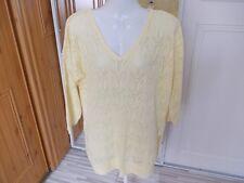 F&F Acrylic/cotton Yellow Pattern Jumper Size 16