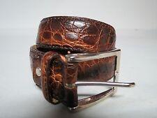 Vero Coccodrillo made in Italy 100% Crocodile Dress belt 120- 135 USA 42