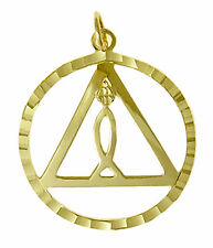 AA Alcoholics Anonymous Faithful Symbol Pendant, #770-4 Med. Size, 14k Gold