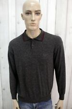 FRED PERRY Uomo Taglia M Maglione 44 Lana Sweater Pullover Maglietta Man Maglia