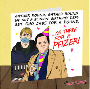 Only Fools and Horses Funny Birthday Card, For Dad, Him, Vaccine, Lockdown