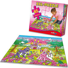 Noris XXL Bodenpuzzle Prinzessin mit 45 großen Teilen